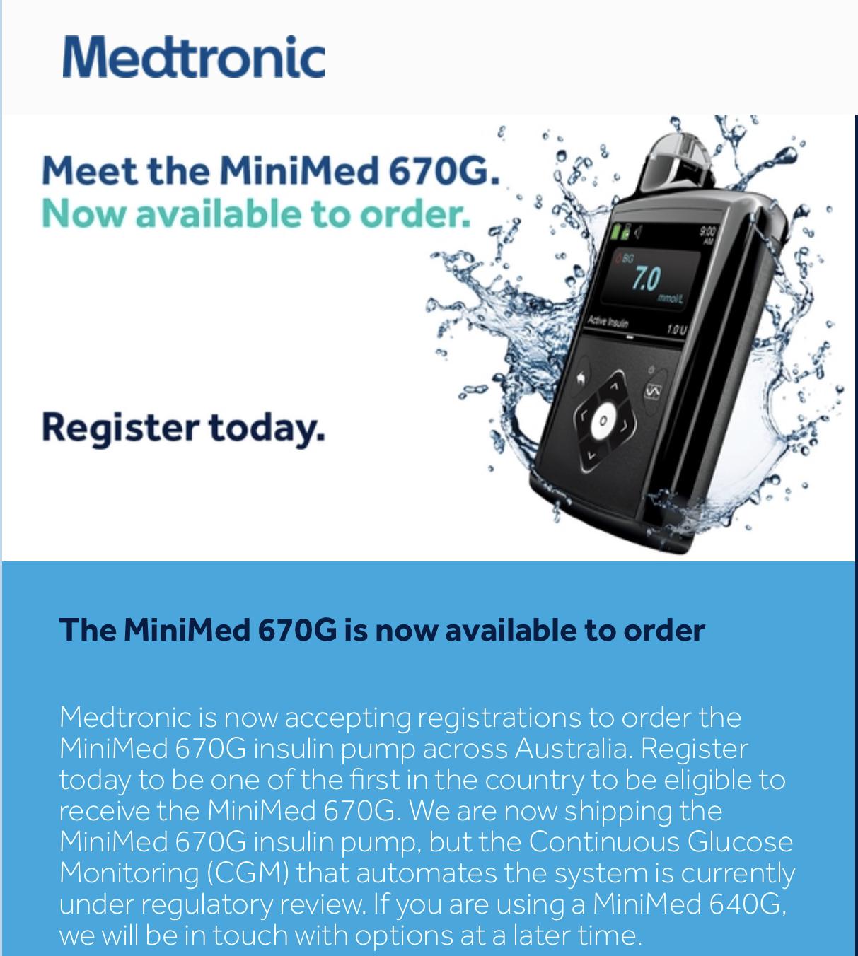 Medtronic 670g Being Released in Australia | Diabetes Forum
