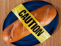 Gluten free diets try and avoid foods with flour