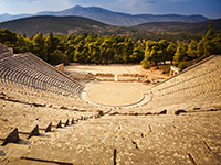 The ancient theatre in Epidaru