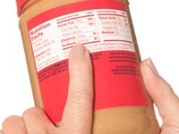 Nutrition Facts are visible on most packaged foods