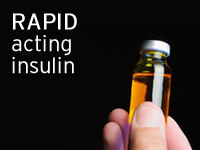 Rapid acting insulin is typically an analogue insulin