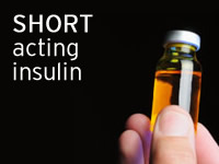 Short acting insulin is not as quick as rapid acting insulin