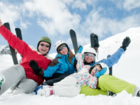 Skiing requires being mindful of the cold weather, which can impact blood glucose levels