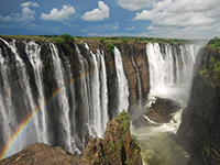 Zambia is home to the Victoria Falls