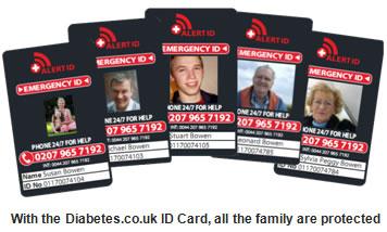 Diabetes ID Card