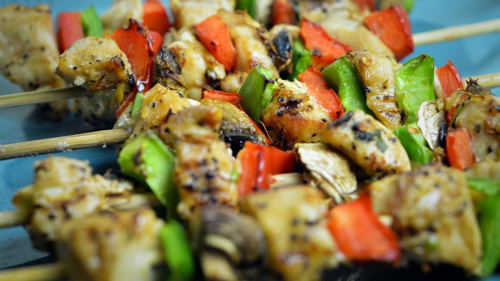 116 Chicken & Mushroom Kebabs (BBQ)
