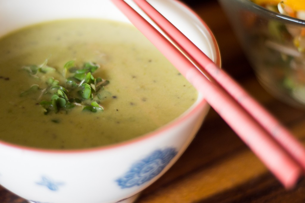 217 Spicy Asparagus Soup (Chinese)