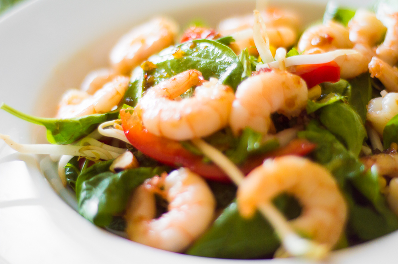 227 Szechuan Prawn and Green Salad (Chinese) (1)