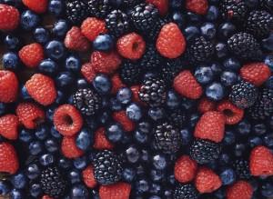 low-carb snack berries