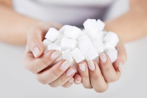 Eating too much sugar does not cause type 1 diabetes.